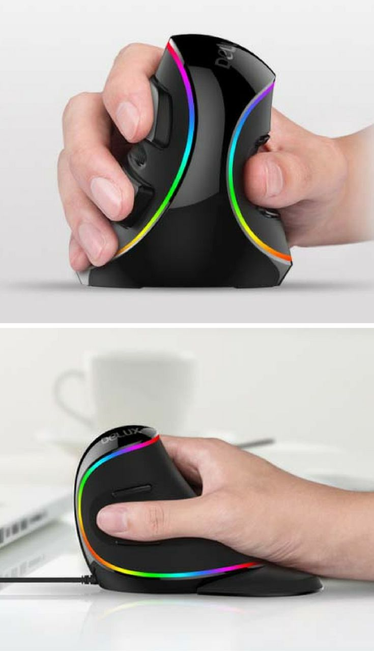 Delux Wireless Vertical Mouse Reduces Your Wrist Pain
