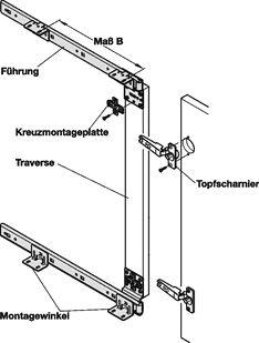 Scharnieren voor magnetron in kast: draaischuifdeurbeslag (á la tv meubel)
