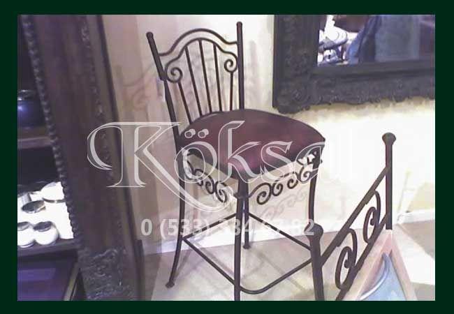 Ferforje Bar Sandalye ve Masaları
