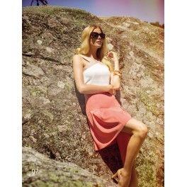 Vestido cintura marcada Laura Bernal. - Lucia Moda