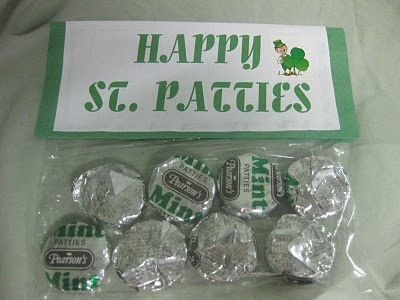 St. Patrick's Day treat - could add to the back the true story of St. Patrick & the Gospel