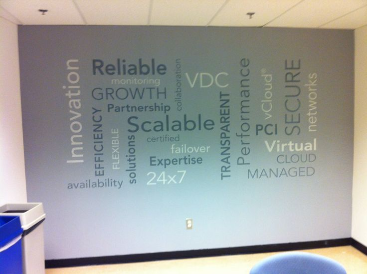 Word clouds created with cut vinyl. #wallart #walldecals #vinyldecals