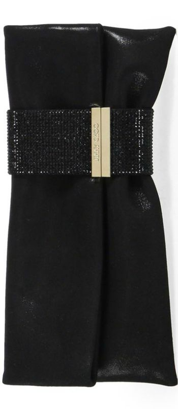 Jimmy Choo Chandra Shimmer Suede Clutch | House of Beccaria~
