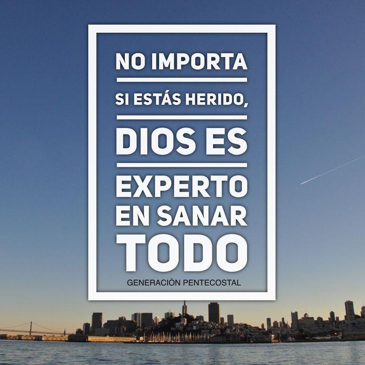 No imponer si estás herido, Dios es experto en sanar cualquier cosa.