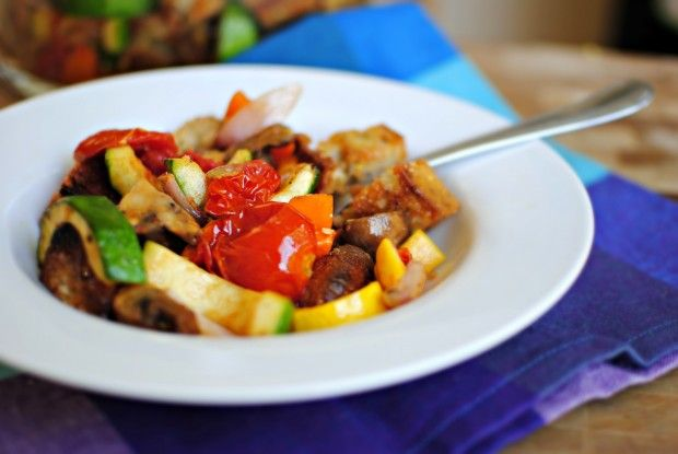 Grilled Vegetable Panzanella|| | {Fab} Foods - Sides | Pinterest