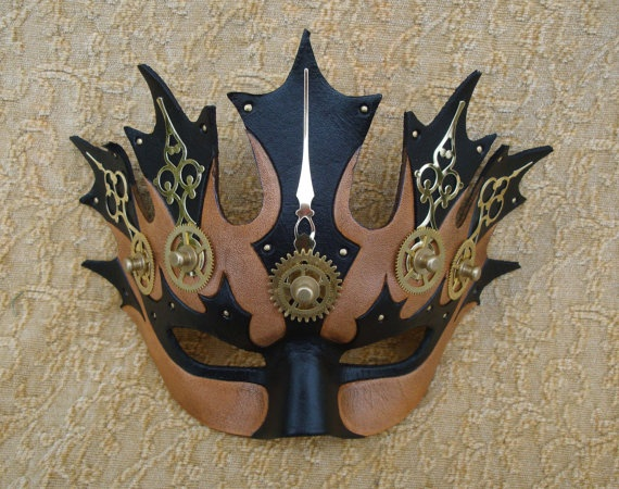 Temporia V1 ... original mixed media handmade steampunk mask by Andrea Masse-Tognetti