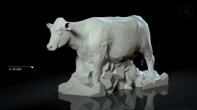 Making Glass Cows by Assembly. From solid block - to glass cow with milk inside - a quick look at the process.