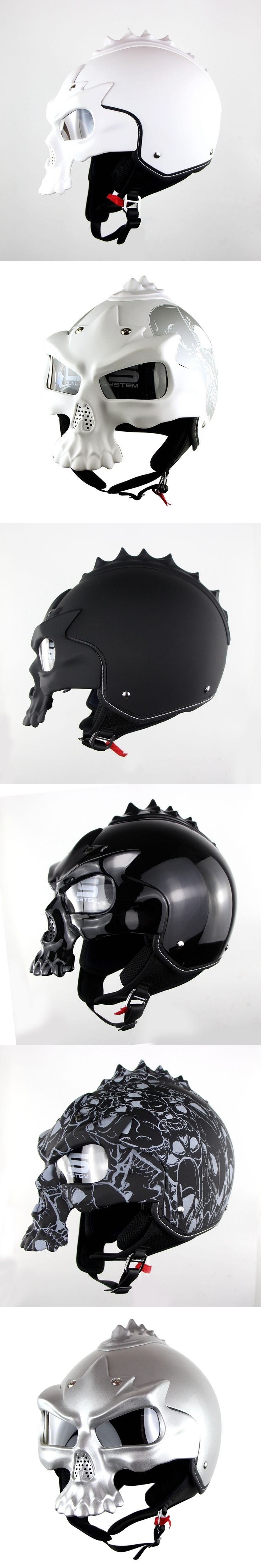 100% Original High Quality Double Lens Motorcycle Skull Helmets Half Face Harley Helmet Motorbike Capacetes Casco Retro Casque