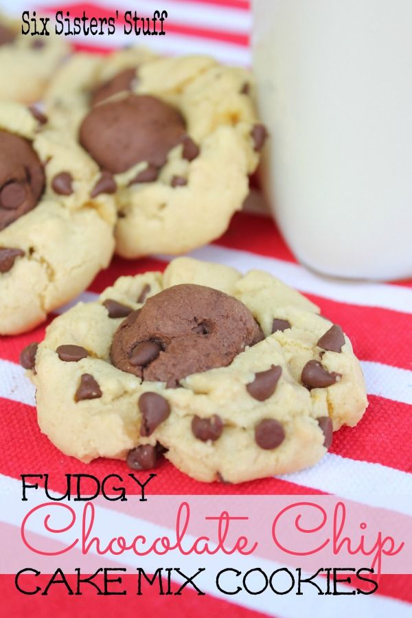 Fudgy Chocolate Cake Mix Cookies from SixSistersStuff.com