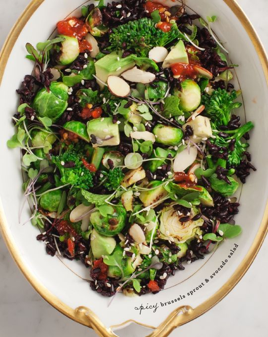 brussels sprout & avocado salad / @adrienne Raptis and Lemons