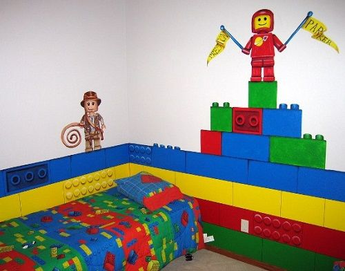 lego decorating bedroom ideas   Lego Theme Bedroom Decorate Your Kids Bedroom Walls With Lego