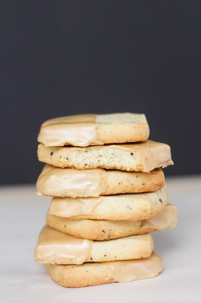 Kona Coffee Shortbread Cookies with Coffee Glaze... crumbly, buttery and irresistible!
