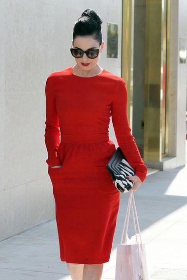 Dita Von Tese-couture dress, maker unknown