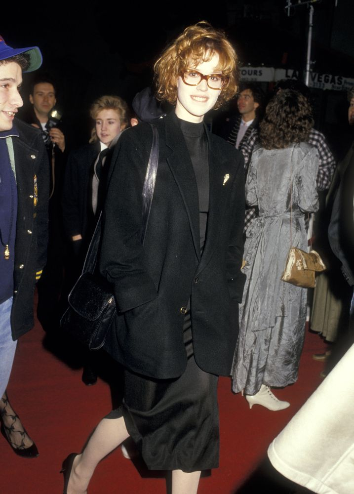 "Molly Ringwald at the Some Kind of Wonderful Premiere, February 1987  ""  Weird that she went to this. John Hughes really wanted her for the Amanda Jones role but she turned it down, she was sick of doing Brat Pack movies...."