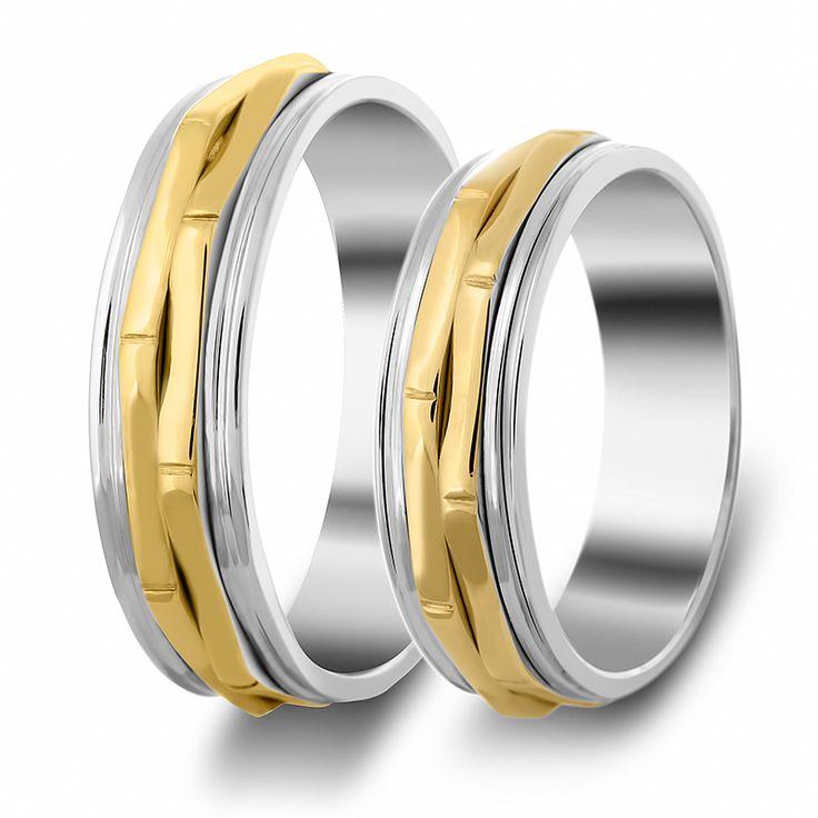 ΒΕΡΕΣ ΔΙΧΡΩΜΕΣ : Βέρες Γάμου Δίχρωμες κωδ. σχ.237B