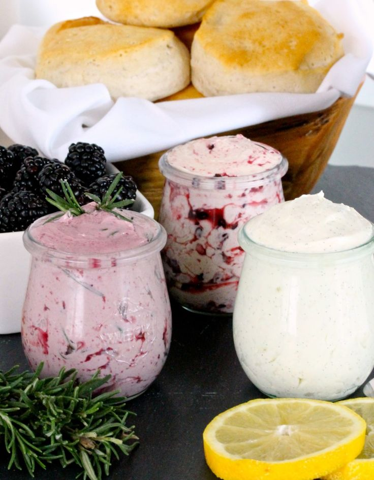 Homemade whipped butters. So easy to make and oh so delicious!