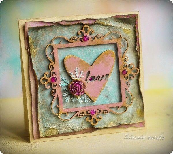 Valentine card  http://www.hurt.scrap.com.pl/kwadratowa-ramka-ornamentowa.html http://www.hurt.scrap.com.pl/tekturki-serca-z-napisem-love-4szt.html
