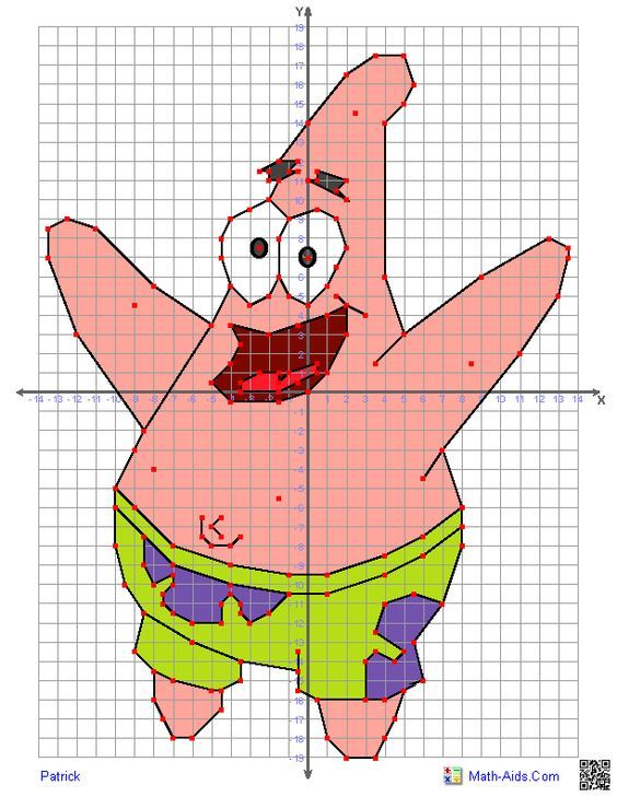 Great worksheets with characters to use for graphing on a coordinate plane!