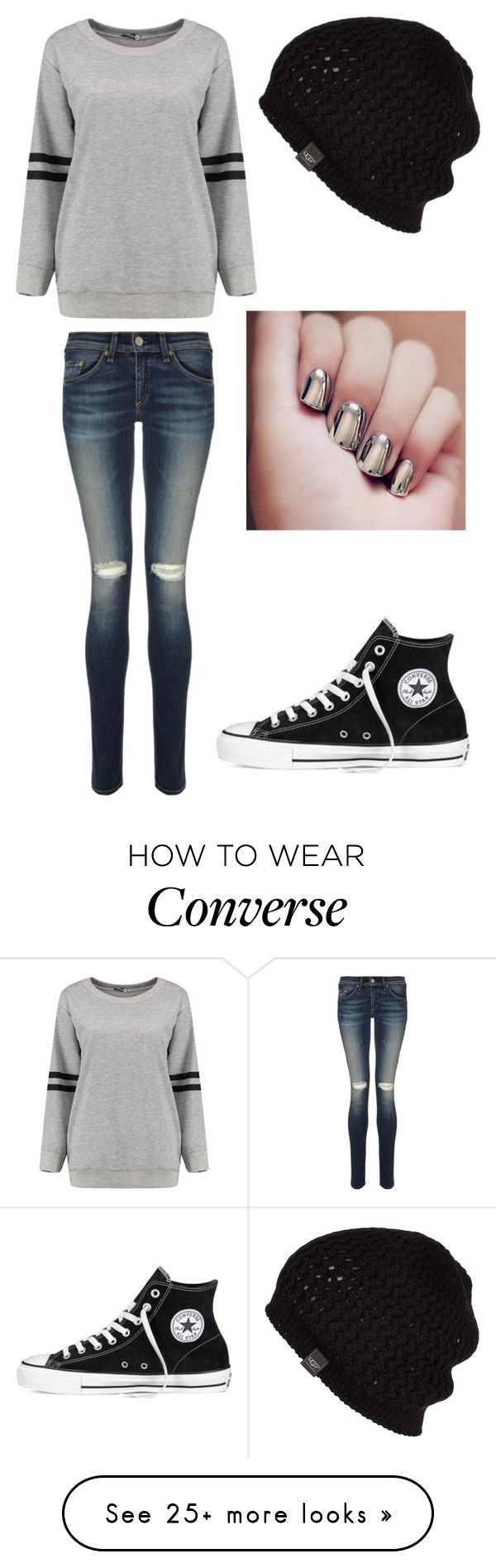 """Untitled #731"" by sarah6623 on Polyvore featuring rag & bone, UGG Australia, Converse, women's clothing, women's fashion, women, female, woman, misses and juniors"