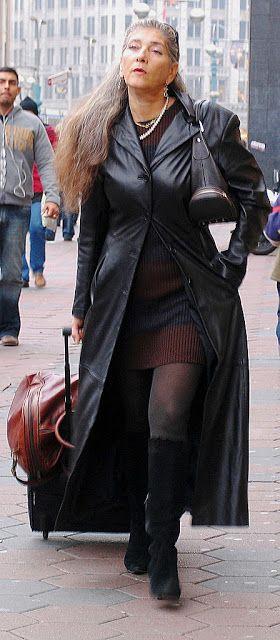 Leather Coat Daydreams: Sleek European traveler