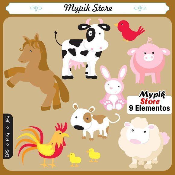 Pronta Entrega Barnyard Animals Animal Clipart Clip Art