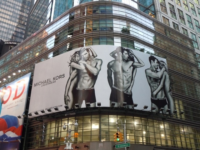 Michael Kors male underwear model billboards...
