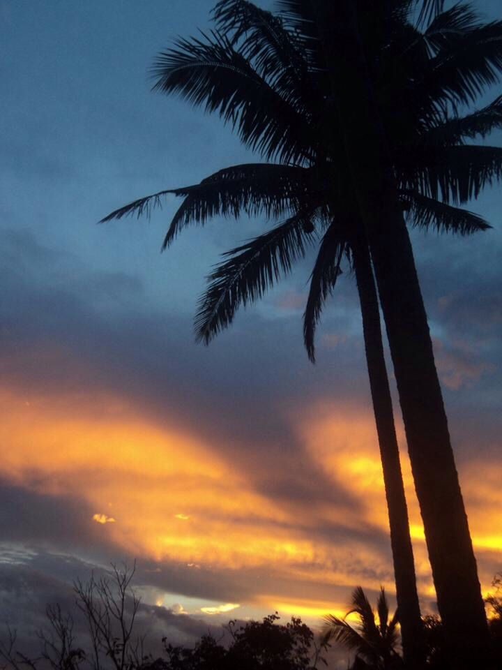 Incredible sunset from Waya Lailia Island, Yasawa Island, Fiji