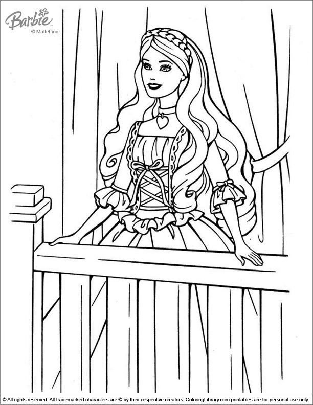 barbie cartoon coloring pages - 36 best images about coloring pages for girls on pinterest