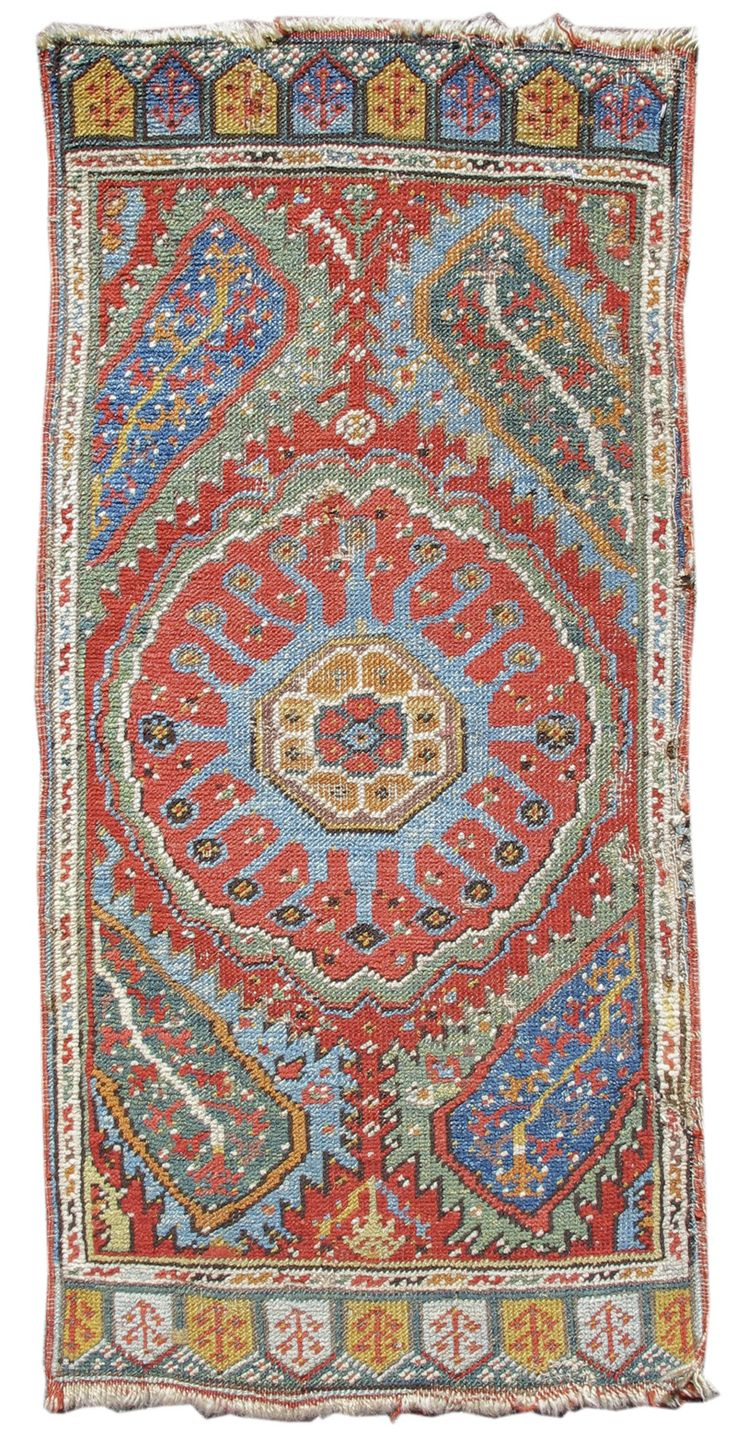 Turkish Ushak Yastik, early 19th C.