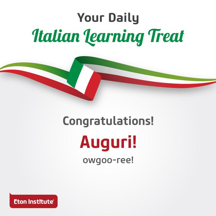 Celebrate everyday moments with family and friends! Reach out to them with a hearty 'Congratulations' in Italian.