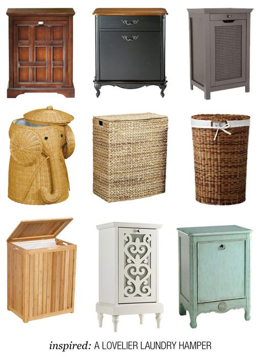 Hampers galore small spaces big impact pinterest hamper laundry and laundry rooms - Laundry hampers for small spaces plan ...