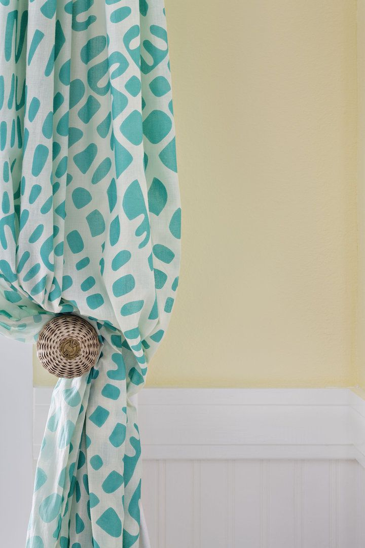 Flowy curtains with white and turquoise when i finally - White and turquoise curtains ...