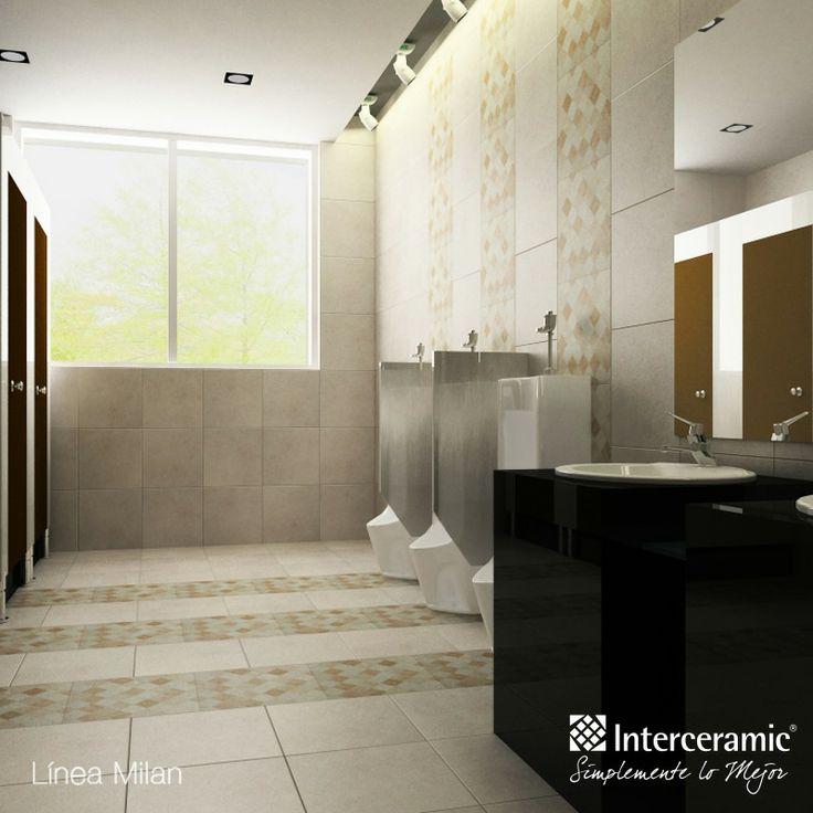 Puedes utilizar colores fríos para los #baños de los hombres, son colores muy masculinos.