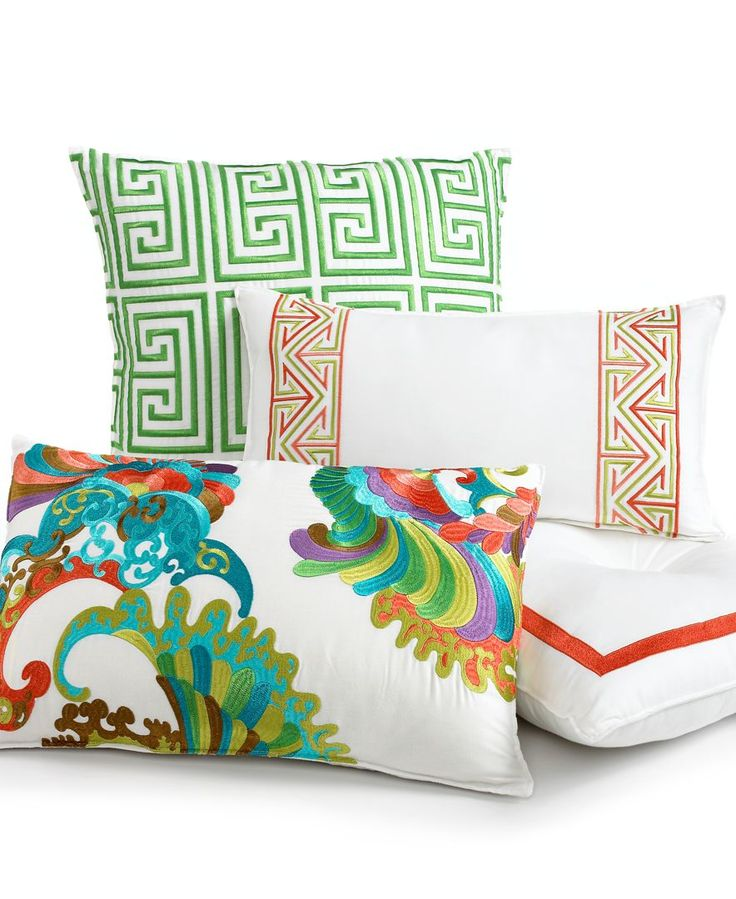 """Trina Turk Bedding, 20"""" x 10"""" Embroidered Decorative Pillow - Bedding Collections - Bed & Bath - Macy's"""
