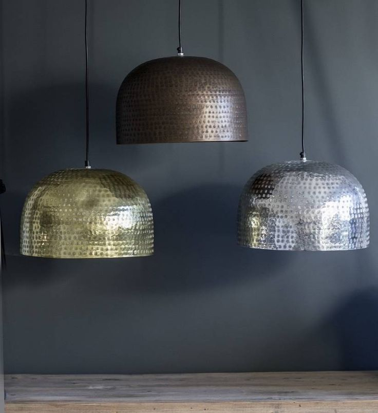 Etched Metal Domed Pendant Shades