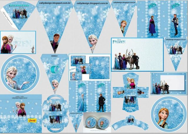 Frozen with Snow: Free Printable Party Kit. | Is it for PARTIES? Is it FREE? Is it CUTE? Has QUALITY? It´s HERE! Oh My Fiesta! in english