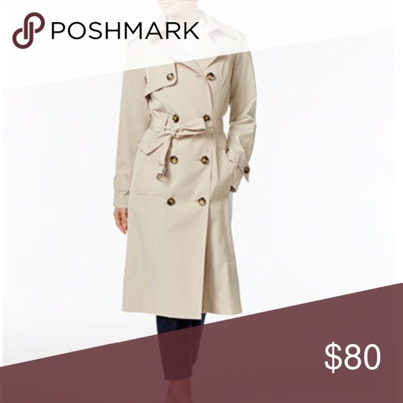 Women's Trench Coat Nearly new condition London Fog double breasted trench coat. Comes from smoke free home London Fog Jackets & Coats Trench Coats