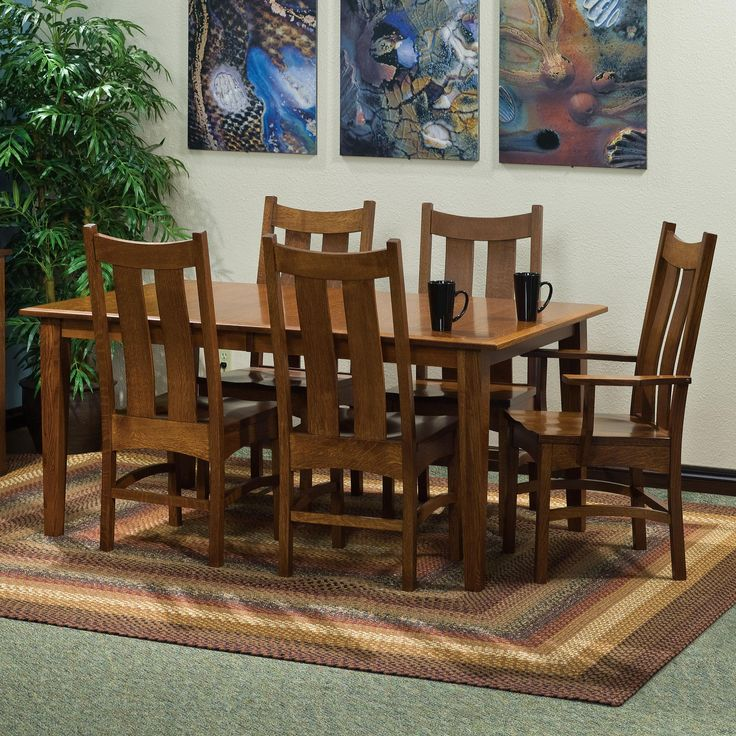 Classic Rectangular Leg Dining Table And Chairs By Fusion Designs Available At Muellerfurniture