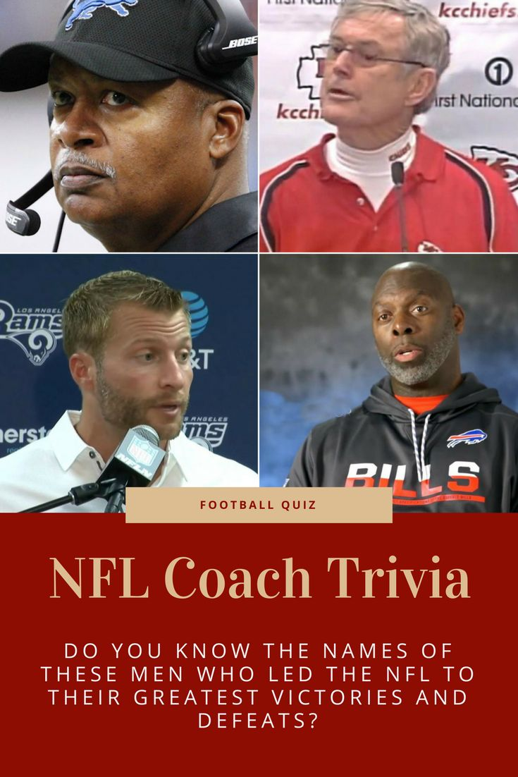 Some win, some lose. Some are remembered with glory, some are remembered with shame! Think you have what it takes to identify these NFL coaches? Try your luck here!