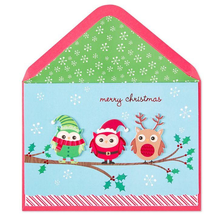 Elf, Santa & Reindeer Owls Price $6.95