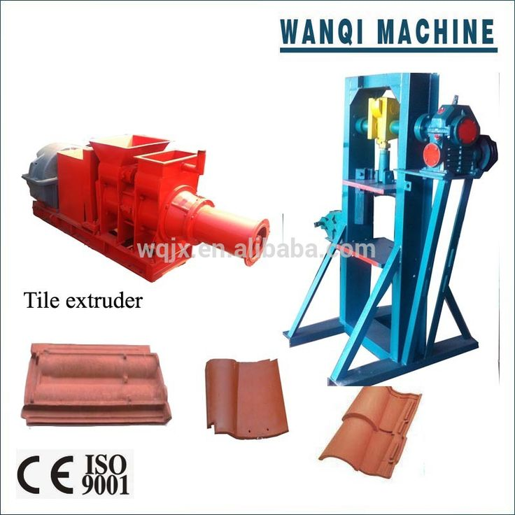 Spanish Clay Tile Making Machine Tile Extruder Auto Tile