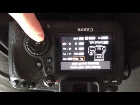Setting back button focus on Canon 6D - YouTube