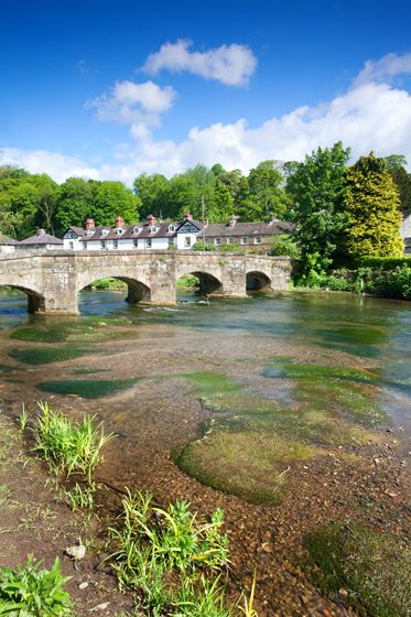 The 13th century Packhorse Bridge over the River Wye ,Bakewell, Derbyshire, England