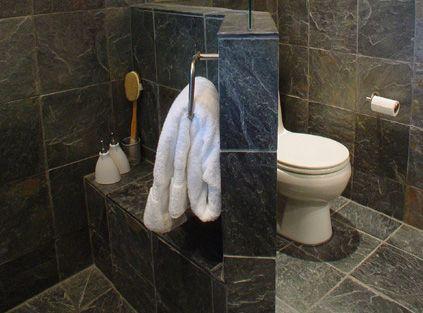 Slate tile bathroom, ahhhhhh so zen