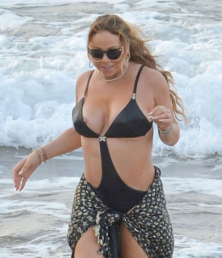MARIAH CAREY in Swimsuit at a Beach in Maui 11/28/2016