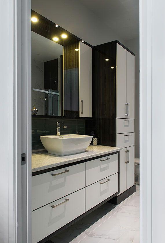 Les 25 meilleures id es de la cat gorie armoire linge de for Comptoir salle de bain ikea