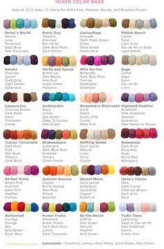 Crochet Colour Schemes