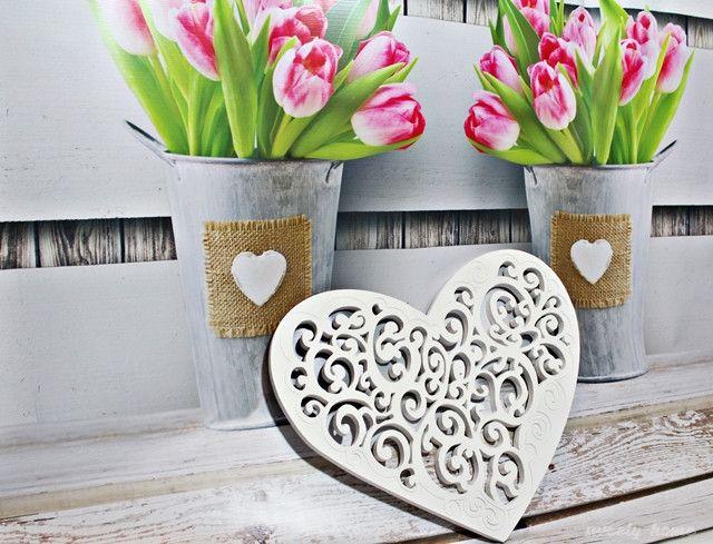 Piękne AŻUROWE SERCE dekoracja mieszkania ślub - sweety-home - Dekoracje ślubne