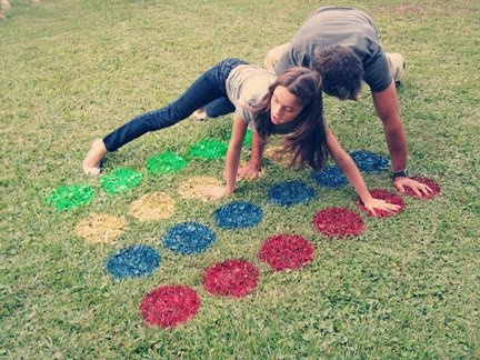Homemade Twister and other Yard Game you can make yourself, for the frugal parent.  Double Click on pic for other game ideas.