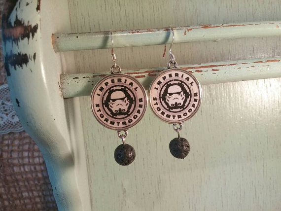 Super cute Stormtrooper earrings ! Geek jewelry for geeky girls ! Star wars is back in the game... As if it ever left it !